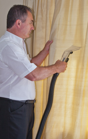 Professional Curtain Cleaning by one of our expert technicians